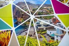 Açambarcamento do terreno de construção na ilha de Madeira Portugal Fotos de Stock Royalty Free