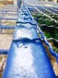 Aço azul Imagem de Stock Royalty Free