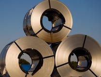 Aço, bobinas Imagens de Stock