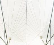 Aço branco da estrutura de telhado do vinil fotografia de stock royalty free