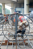 Aço chinês da soldadura do trabalhador Foto de Stock