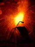 Aço da soldadura Fotografia de Stock