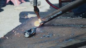 Aço do corte com gás vídeos de arquivo