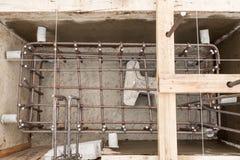 Aço do reforço para a fundação da construção Imagens de Stock