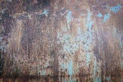 Aço e pintura oxidados velhos da corrosão foto de stock royalty free