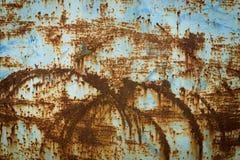 Aço e pintura oxidados velhos da corrosão imagem de stock royalty free