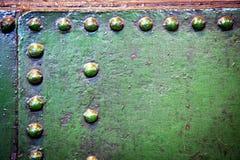 Aço e rebites Fotografia de Stock