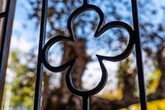 Aço forjado decorativo, close-up forjado dos elementos fotos de stock royalty free