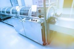 Aço grande máquina cromada com painel de controle imagens de stock royalty free