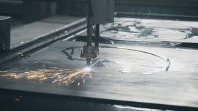 Aço industrial do metal do corte do plasma do laser video estoque