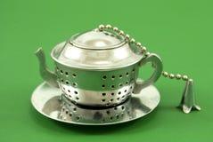 Aço inoxidável do filtro do chá fotografia de stock royalty free