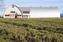 Aço moderno construção de exploração agrícola fabricada foto de stock
