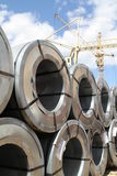 Aço rolado Fotografia de Stock