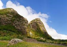 Açores - cachoeira na ilha Flores fotografia de stock