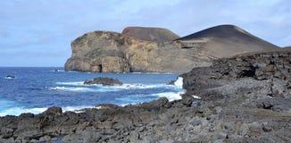 Açores, Faial, vulcão do dos Capelinhos de Vulcao entraram em erupção, permanecem Imagem de Stock Royalty Free