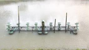 Aération de turbine dans l'eau Images stock