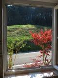 Aération - vue rurale de fenêtre Photographie stock libre de droits