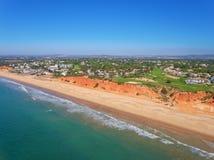 aéreo Foto del cielo, campos de golf Vale de Lobo Foto de archivo libre de regalías