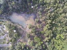 Aéreo - remate abajo de vista de un parque Fotografía de archivo libre de regalías