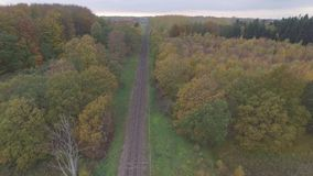 Aéreo - trilhas de estrada de ferro video estoque