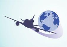 Aérez autour du globe Image libre de droits