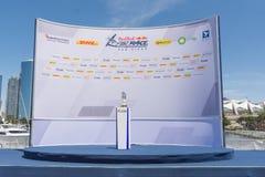 Aérez l'étape de trophée de San Diego de course dans le podium Images libres de droits