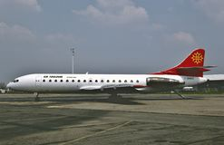 Aérez la lessive SE-210 Caravelle 10B3 de Toulouse à Paris, France le 7 mai 1992 Photos stock