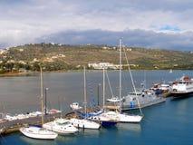 Aérez la photographie, baie de Souda, Chania, Crète, Grèce Photographie stock