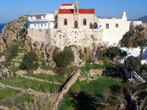 Aérez la photographie, Chrisoskalitissa, Chania, Crète, Grèce Images libres de droits