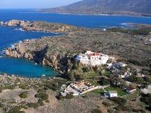 Aérez la photographie, Chrisoskalitissa, Chania, Crète, Grèce Photos stock
