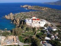 Aérez la photographie, Chrisoskalitissa, Chania, Crète, Grèce Photographie stock libre de droits