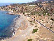 Aérez la photographie, Chrisoskalitissa, Chania, Crète, Grèce Photos libres de droits