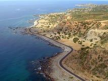 Aérez la photographie, Chrisoskalitissa, Chania, Crète, Grèce Image libre de droits