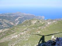 Aérez la photographie, Falasarna, Chania, Crète, Grèce Images libres de droits