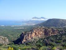 Aérez la photographie, Falasarna, Chania, Crète, Grèce Photographie stock libre de droits