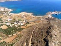 Aérez la photographie, Kissamos, Chania, Crète, Grèce Image libre de droits