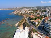 Aérez la photographie, ville de Chania, Crète, Grèce Photo libre de droits