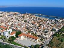 Aérez la photographie, ville de Chania, Crète, Grèce Photographie stock