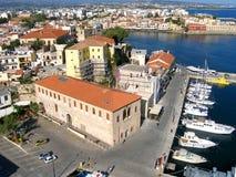 Aérez la photographie, ville de Chania, vieille ville, Crète, Grèce Photos libres de droits
