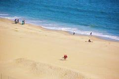 Aérez le ressort New York de secteur de plage d'île de lapin de vue Image libre de droits