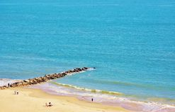 Aérez le ressort New York de secteur de plage d'île de lapin de vue Images libres de droits