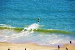 Aérez le ressort New York de secteur de plage d'île de lapin de vue Photographie stock