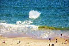 Aérez le ressort New York de secteur de plage d'île de lapin de vue Images stock