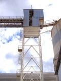 Aérez le système de bande de conveyeur dans un ensemble industriel Photo stock