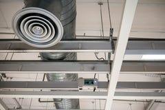 Aérez le ventilateur, le panneau électrique, les contrôles et les commutateurs au b Images libres de droits