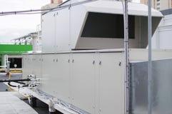 Aérez manipuler le dessus de toit d'unité pour le système de ventilation central Photographie stock