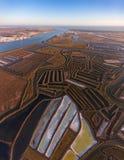 aérien Lacs et marais salt filmés du ciel Image stock
