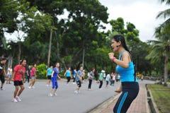 Aérobic de danse Photos stock