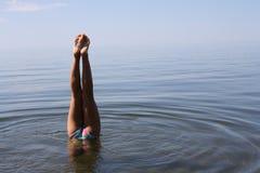 Aérobic de lac Image libre de droits