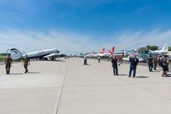 Aérodrome avec des avions Photo libre de droits